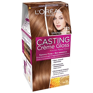Краска для волос L'Oreal Paris (Лореаль) Casting Creme Gloss (Кастинг Крем Глосс) 723 - Шоколадное суфле