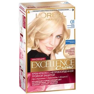 Краска для волос L`Oreal (Лореаль) Excellence (Экселленс), оттенок 01 - Суперосветляющий русый натуральный