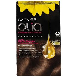 Краска для волос Garnier (Гарньер) Olia, 6.0 Темно-русый