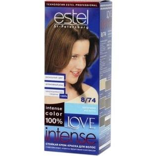 Краска для волос Estel Love Intense (Эстель Лав Интенс) 8/74 - Капуччино