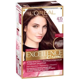 Краска для волос L`Oreal (Лореаль) Excellence (Экселленс), оттенок 4.15 Морозный шоколад