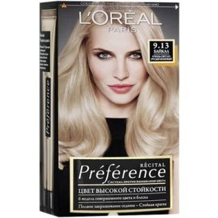 Краска для волос L`Oreal (Лореаль) Recital Preference (Преферанс) 9.13 - БАЙКАЛ Очень светло-русый бежевый