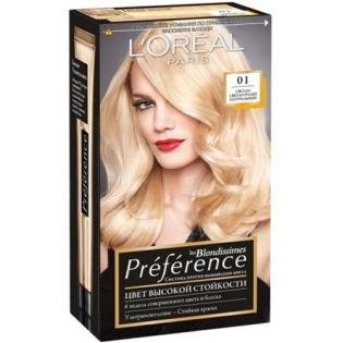 Краска для волос L`Oreal (Лореаль) Recital Preference (Преферанс) 01 - Светло-светло русый натуральный