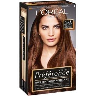 Краска для волос L`Oreal (Лореаль) Recital Preference (Преферанс) 5.25 - АНТИГУА Каштановый перламутровый