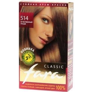 Краска для волос FARA (Фара) Classic 514 - Естественный-русый