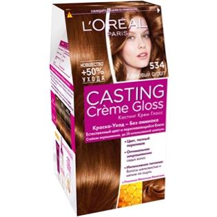 Краска для волос L'Oreal Paris (Лореаль) Casting Creme Gloss (Кастинг Крем Глосс) 534 - Кленовый сироп