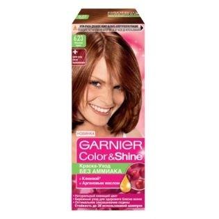 Краска для волос Garnier (Гарньер) Color Shine, 6.23 Лесной орех