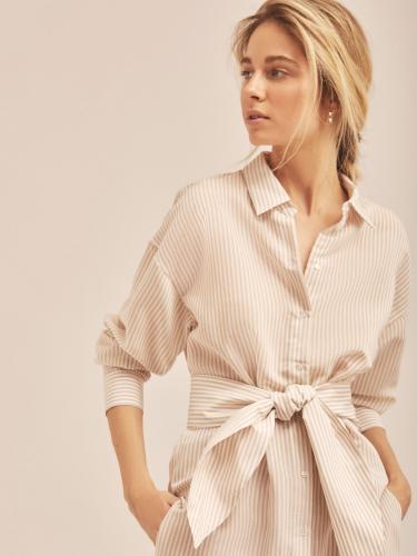 Удлиненная рубашка с поясом