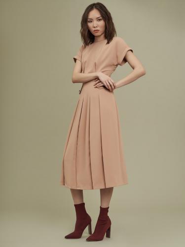 Платье миди с клапанами на талии
