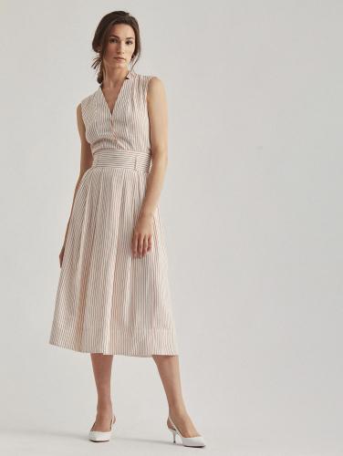 Льняная юбка-трапеция