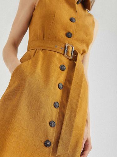 Платье-жилет изо льна