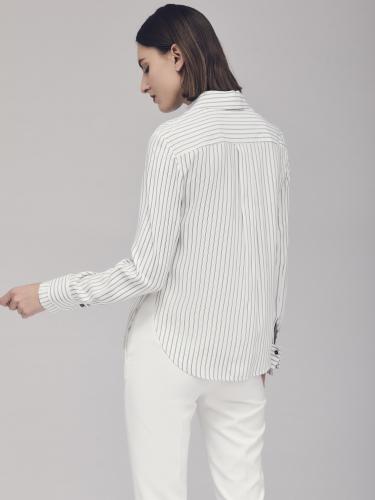 Блуза в полоску с двойными манжетами