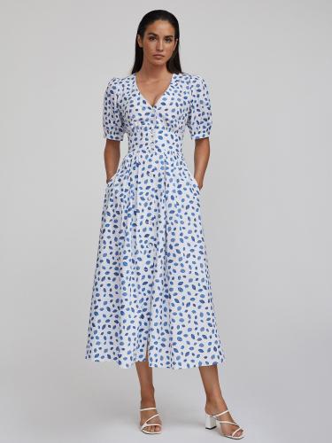 Платье миди из хлопка