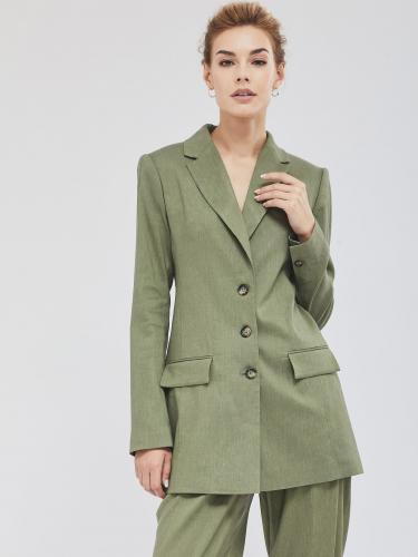 Пиджак из льняной ткани