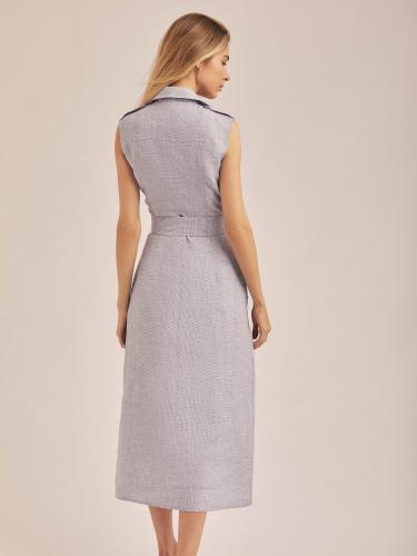 Платье с запахом и поясом