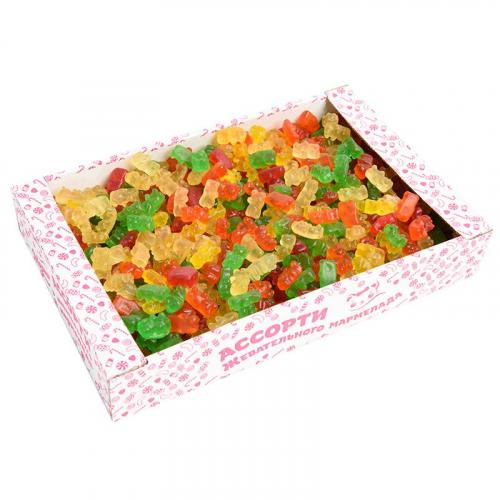 Мишки ассорти (апельсин, яблоко, клубника, дыня, черная смородина) Артикул: 1324