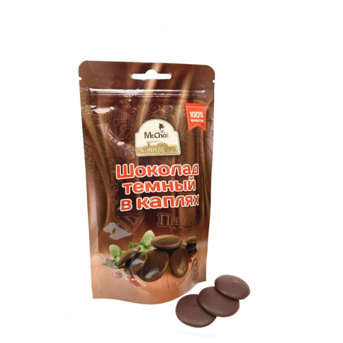 Шоколад темный в каплях (Дой-пак 75г) Артикул: 1201