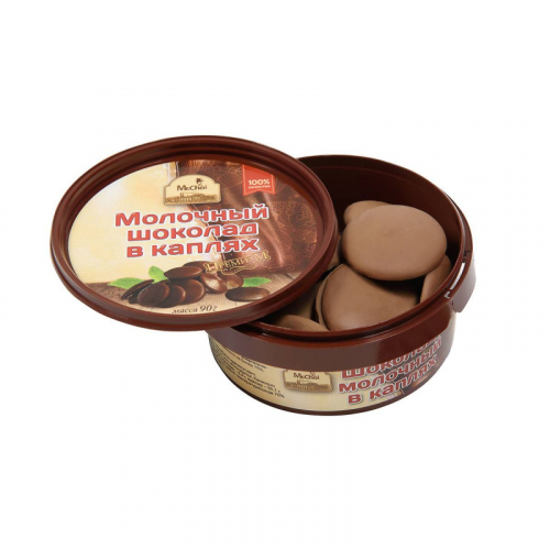 Молочный шоколад в каплях (90 гр) Артикул: 1203