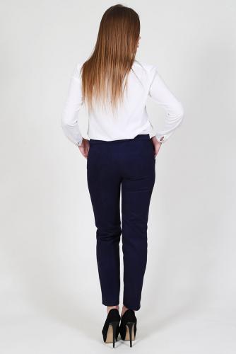 Замшевые брюки со стрелками Ш 020 (Индиго)