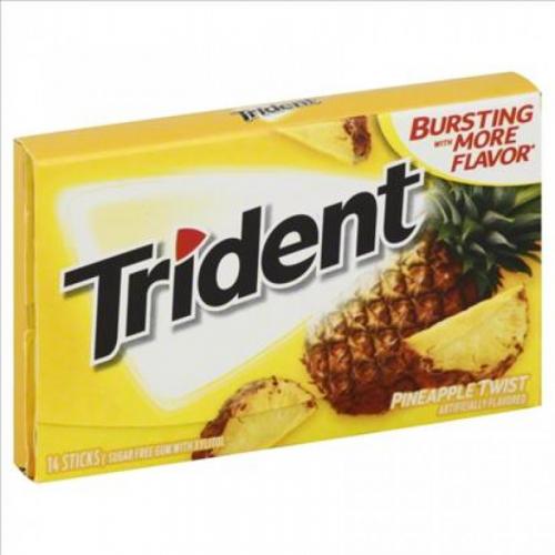 Trident Pinneapple Twist Жевательная резинка Артикул: 7181