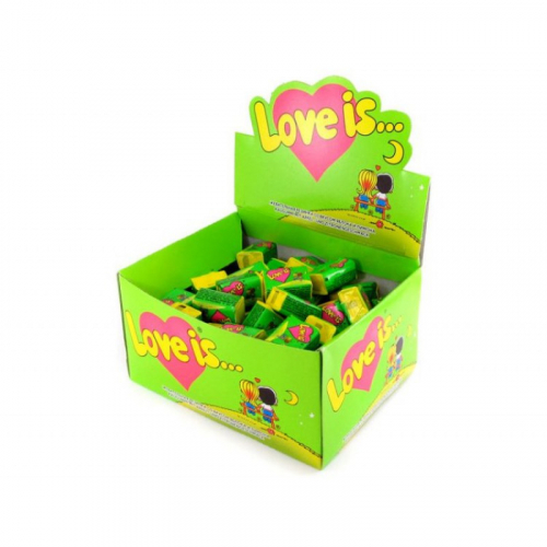 LOVE IS Жевательная резинка Яблоко Лимон 4,2г* 100 шт. Артикул: 5193