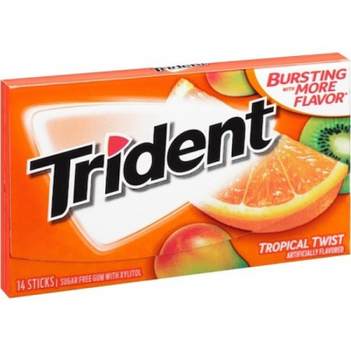 Trident Tropical Twist Жевательная резинка Артикул: 7430