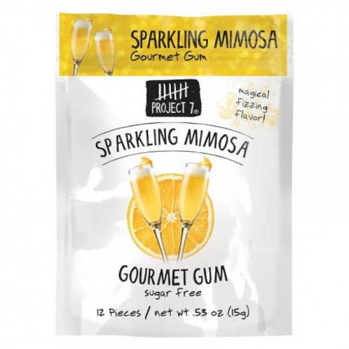 Жевательная резинка Project 7 Sparkling Mimosa (со вкусом знаменитого коктейля) США SALE Артикул: 7072