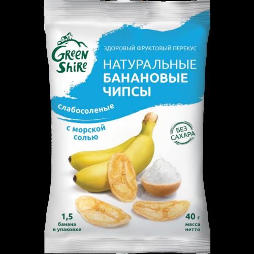 Чипсы банановые натуральные с морской солью 40гр SALE Артикул: 7027