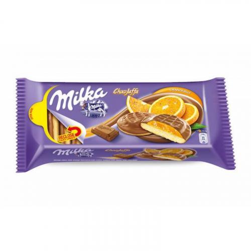 Шоколадный бисквит Milka Choco Jaffa Orange с апельсиновым желе 147 гр Артикул: 5343