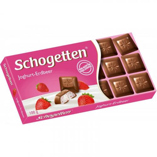 Шоколад Schogetten Yogurt-Strawberry 100 ГР Артикул: 7418