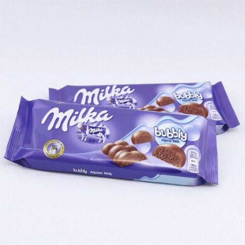 Шоколад Milka bubbly Alpine Milk 90гр Артикул: 5628