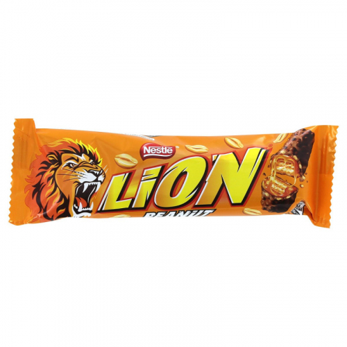 Nestle Lion Peanut шоколадно-карамельный батончик 40гр Артикул: 7185