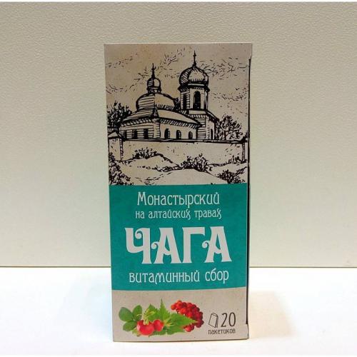 """Напиток чайный """"Монастырский сбор на алтайских травах витаминный"""" Артикул: 7009"""