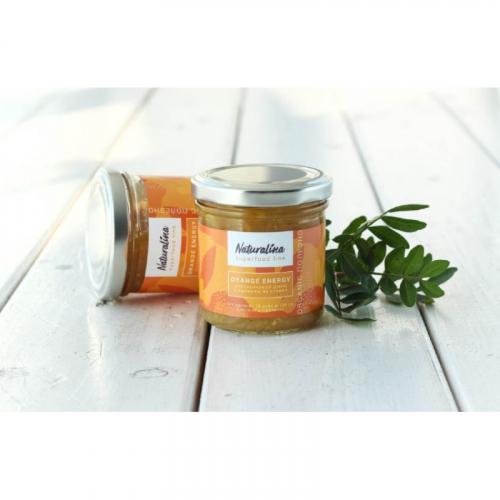 Naturalina Апельсиновый джем с имбирем без сахара на стевии, 170 г SALE Артикул: 7238
