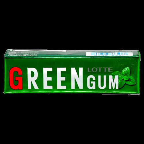 Lotte Green Gum Жевательная резинка Свежая зеленая мята 9 пластинок Артикул: 7215