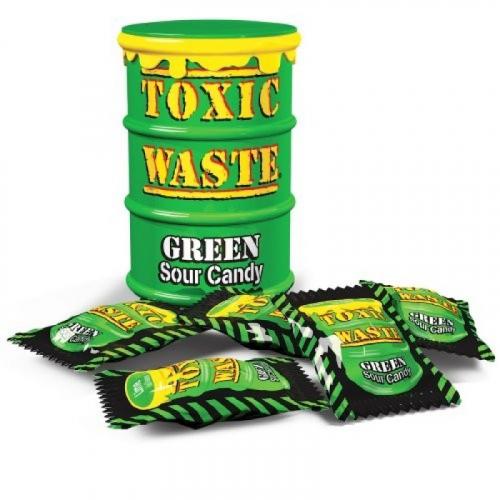 Леденцы Toxic Грин 42 гр (зеленая бочка) Артикул: 5236