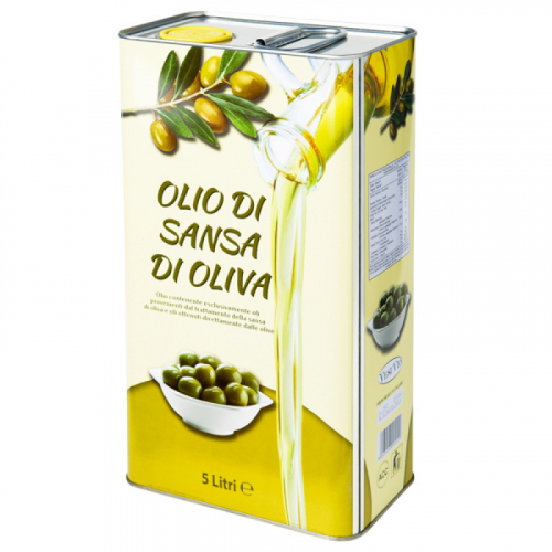 Оливковое масло для жарки Olio di sansa di oliva 5 л ( Италия ) Артикул: 7335