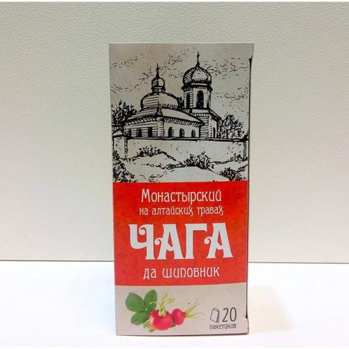 "Напиток чайный ""Монастырский на алтайских травах чага да шиповник"" Артикул: 7008"