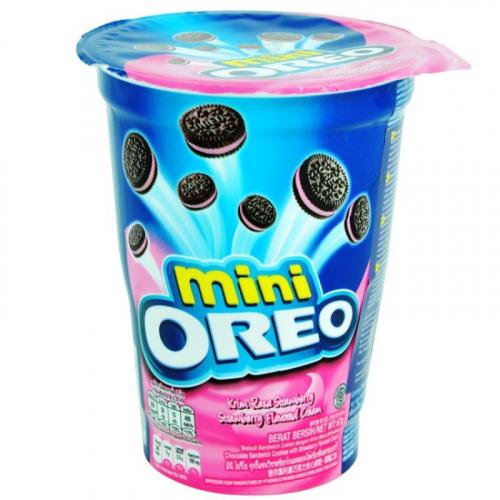 Печенье Орео MINI с клубничным кремом 67 ГР стакан Артикул: 5244