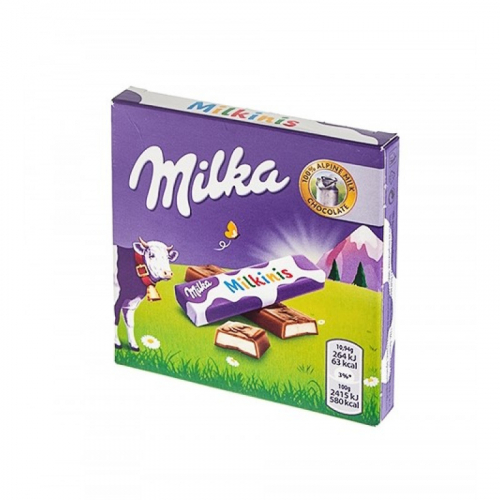 Шоколад Milka milkinis 43,75гр (внутри 4шт по 10,94гр) Артикул: 7132