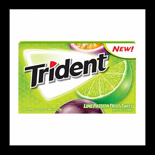Trident Lime Passionfruit Twist Жевательная резинка Артикул: 5959