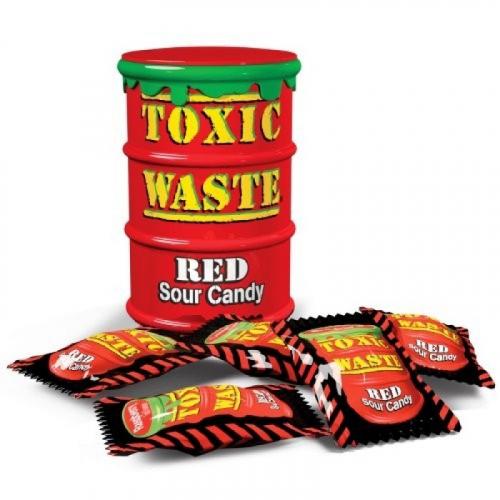 Леденцы Toxic Waste красные 42 г Артикул: 5239