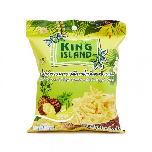 Чипсы кокосовые с ананасом 40гр Артикул: 6974
