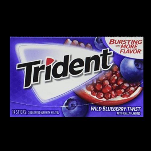 Trident Wild Blueberry Twist Жевательная резинка Артикул: 5961