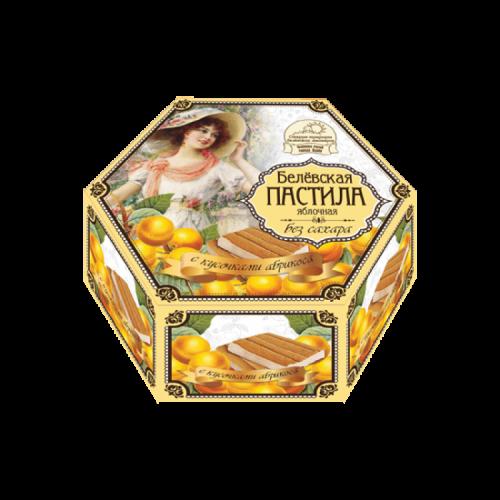 Белевская пастила воздушная 150гр без сахара с кусочками абрикоса Артикул: 6905