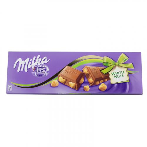 Шоколад Milka Whole Nuts 100гр Артикул: 7445