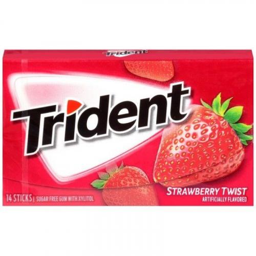 Trident Strawberry Twist Жевательная резинка Артикул: 7441