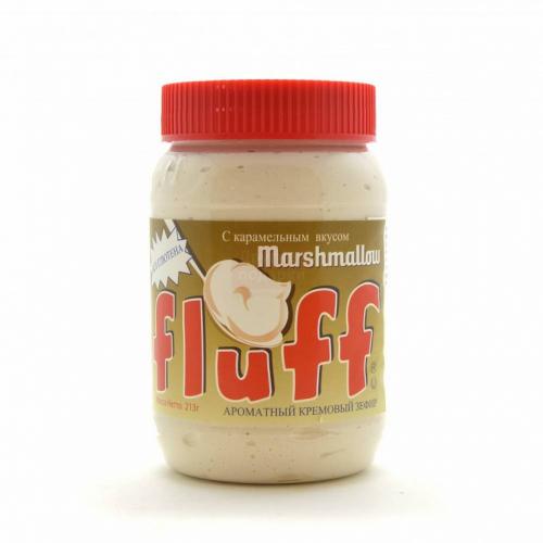 Зефир Fluff кремовый Маршмеллоу с карамельным вкусом 213гр Артикул: 5643
