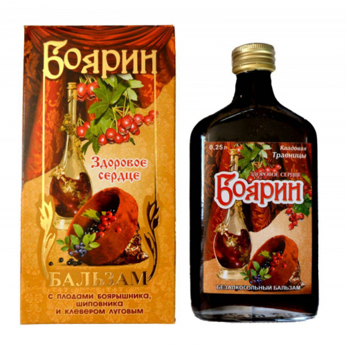 Безалкогольный бальзам «Боярин» 0.25л Стекло/пластик Артикул: 6960