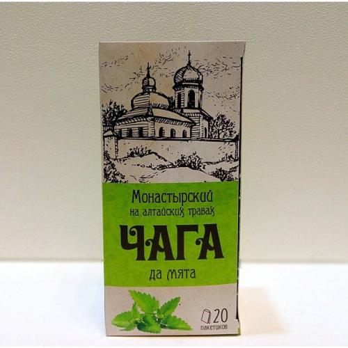 "Напиток чайный ""Монастырский на алтайских травах чага да мята"" Артикул: 7006"